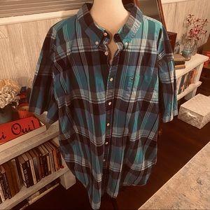 Tommy Hilfiger Men's 4X Short Sleeve Button Up Top